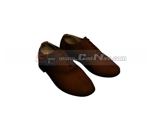 Men Casual Loafer leather shoes 3d rendering