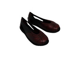 Ladies Leather Casual Shoes 3d preview