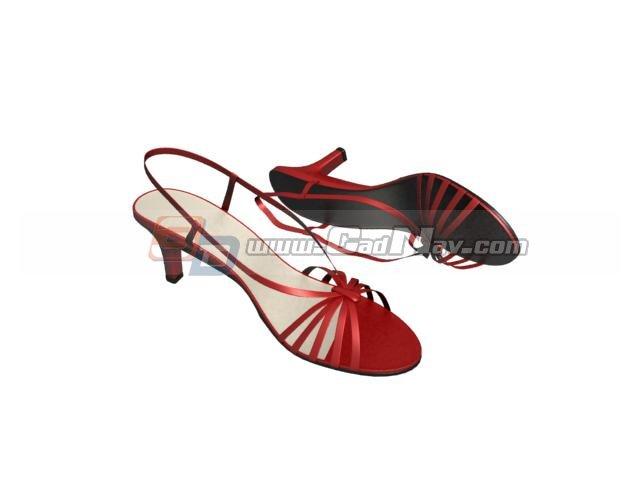 Sexy Ladies Sandals 3d rendering