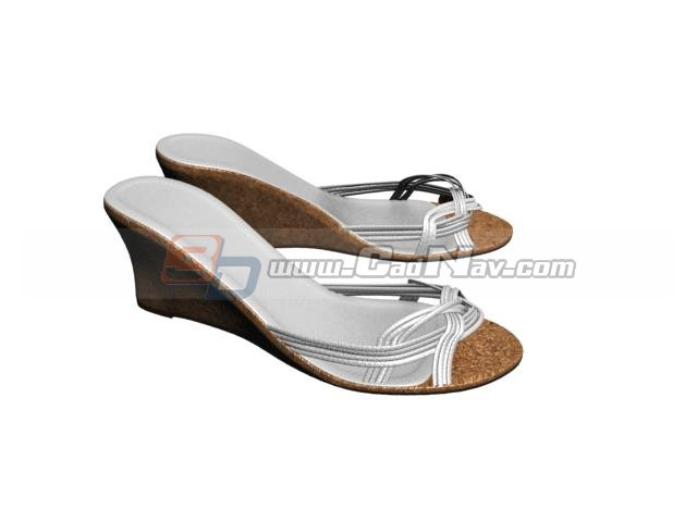 Girls Step sandals 3d rendering