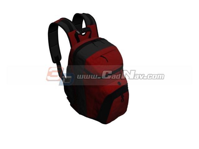Outdoor Travel Backpack Bag 3d rendering