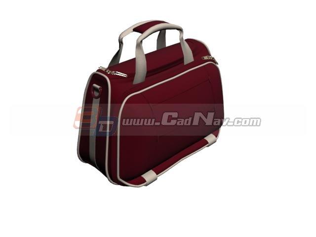 Fabric Sport Travel Bag 3d rendering