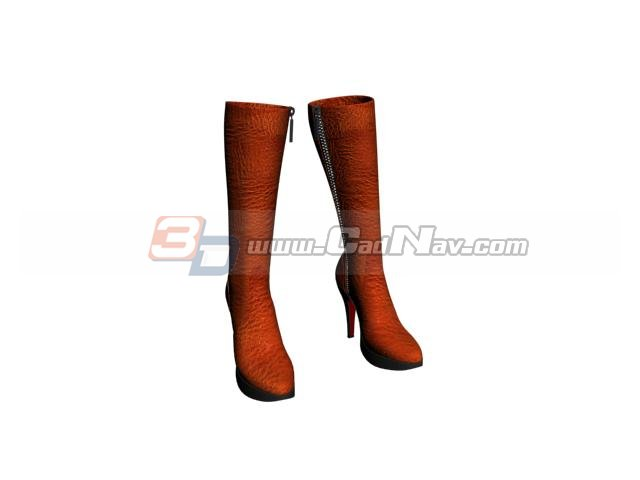 Over knee boots for lady 3d rendering