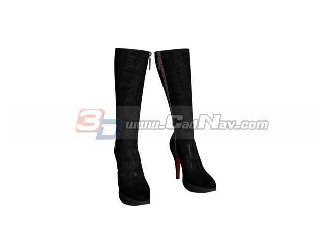 Long women boots 3d rendering