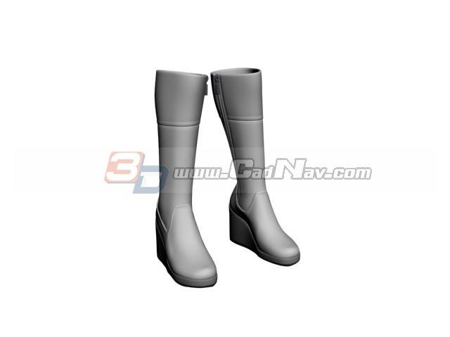 Women snow boots 3d rendering