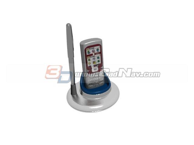 Mobile Phone Holder Pen stand 3d rendering