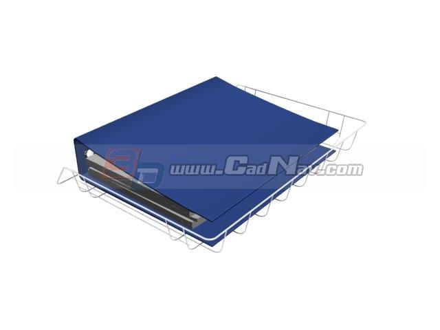 Plastic file folder 3d rendering