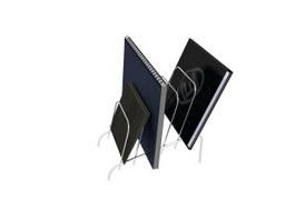 Desktop file holder 3d model preview