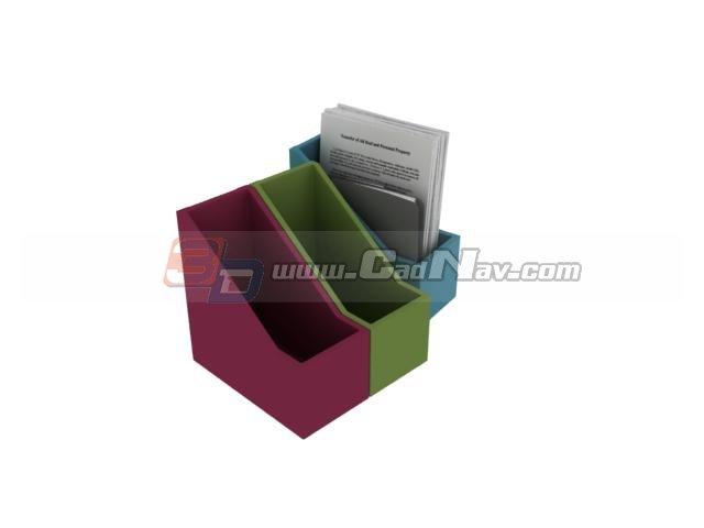 Desk Paper file holder 3d rendering