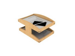 2-layers paper file holder 3d preview