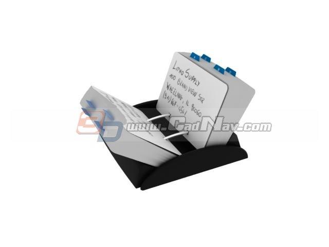 Memo holder box 3d rendering