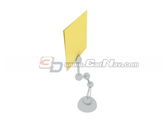 Paper card clip 3d rendering