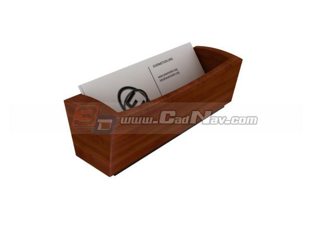 Wooden Letter Tray Holder 3d rendering