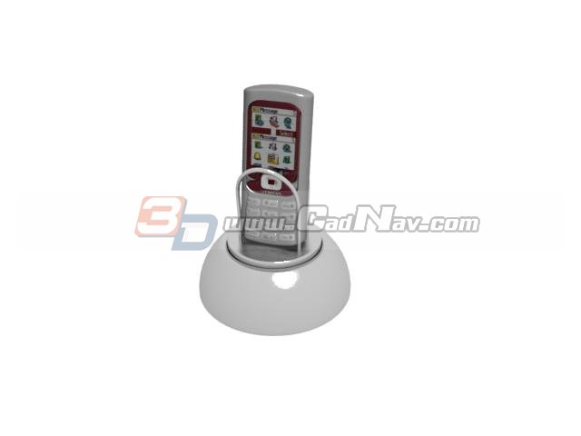 Smartphone and mobile phone holder 3d rendering