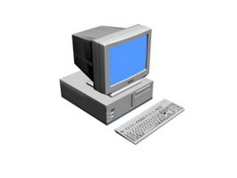 Home personal computer 3d model preview