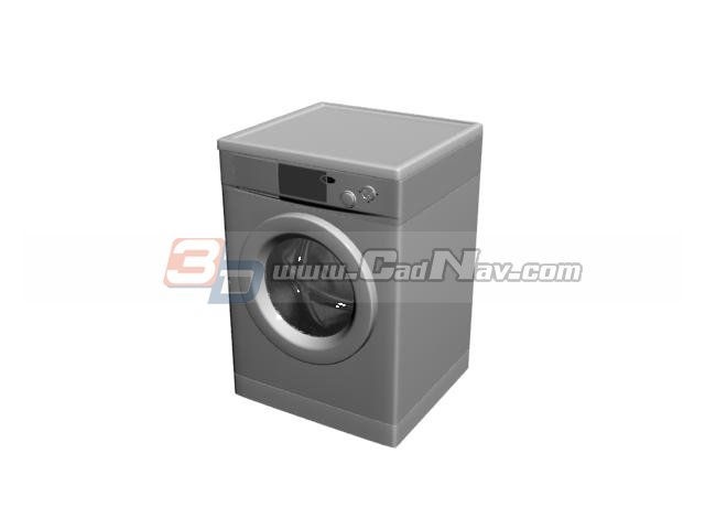 Automatic washing machine 3d rendering