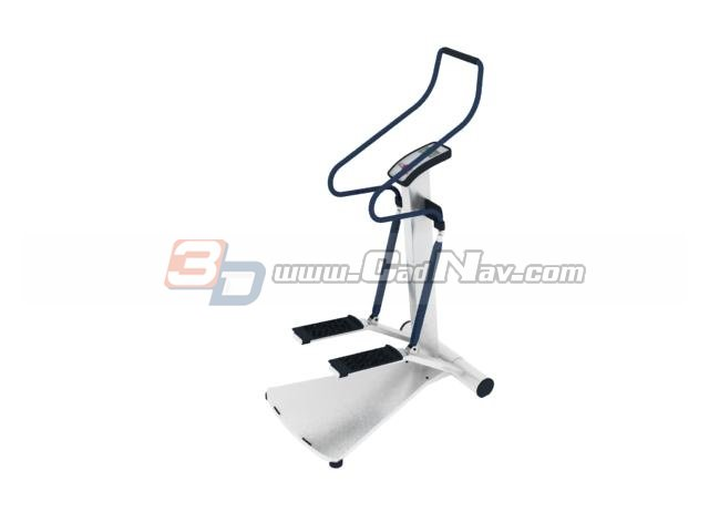 Fitness twist stepper with handlebar 3d rendering