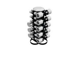 Vertical Dumbbell Rack 3d model preview