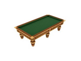 Carved Billiard Table 3d model preview