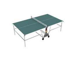 Foldable table tennis table 3d preview