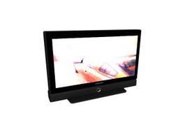 Samsung flat-screen TV 3d model preview