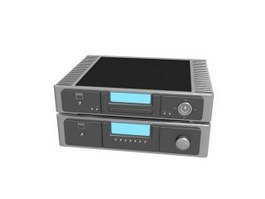 Home theater amplifier 3d model preview