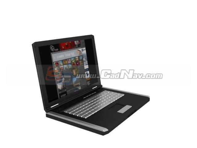 Laptop computer 3d rendering