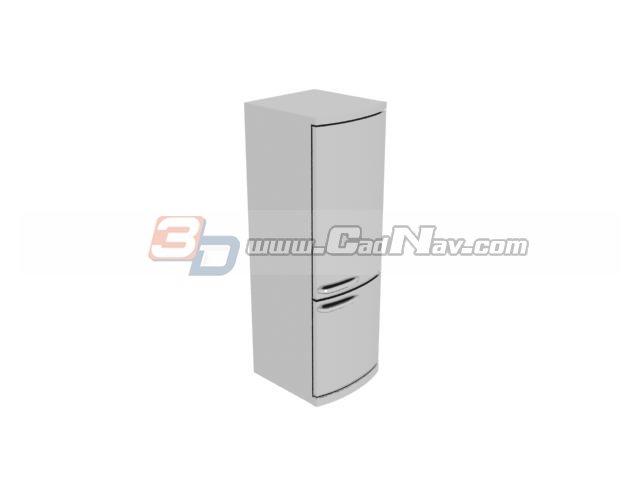 Two-door Refrigerator 3d rendering