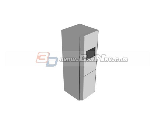 Home double door refrigerator 3d rendering