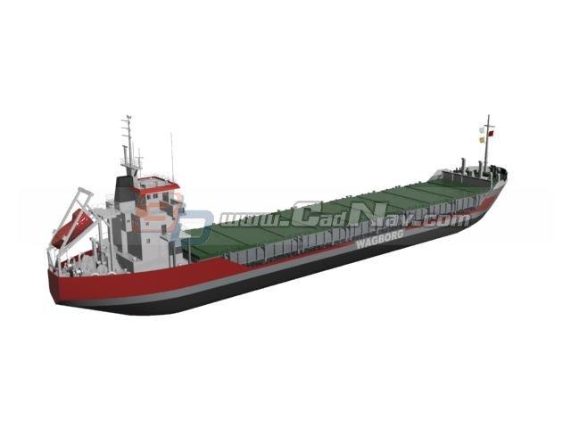 Bulk Carrier Cargo Vessel 3d rendering