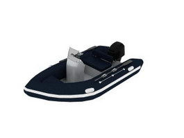 Speed Boat fishing boat 3d model preview