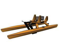 Water Pedal Boat 3d preview