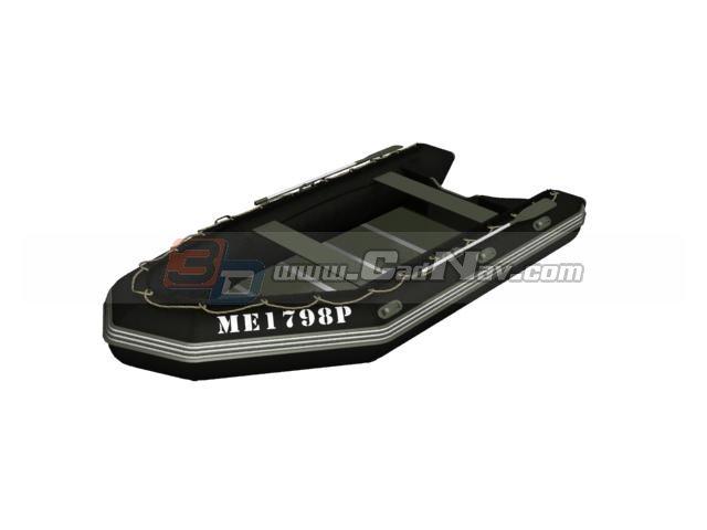 Rafting boat river kayak 3d rendering