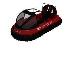 Inflatable canoe cruise yacht 3d preview