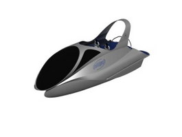 High Speed Jet Skis Boat Motorboat 3d preview