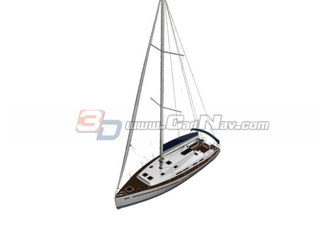 RC Sailboat Toy 3d rendering