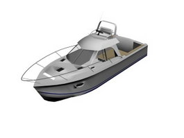 Cabin Boat Fishing Boat 3d preview