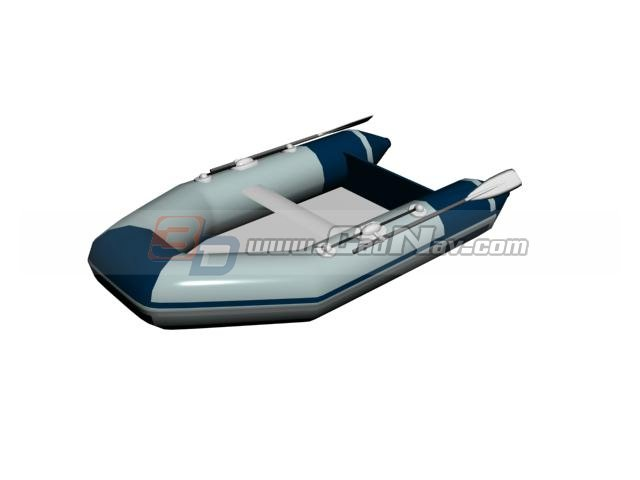 Rubber dinghy rafting boat 3d rendering