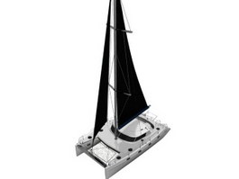 Sailboat cruise yacht 3d preview