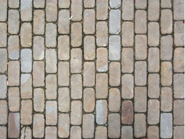 Clay paving block floor texture
