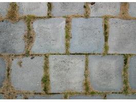 Antique brick pavement texture