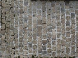 Old stone block pavement texture