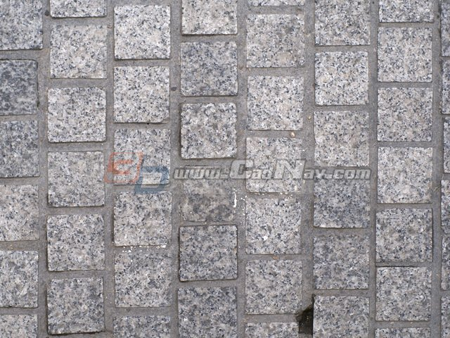 Granite stone pavement texture