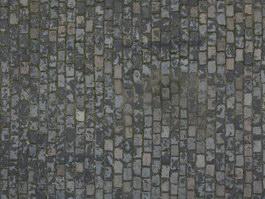 Blue brick ancient road texture