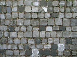 Natural black slate stone brick paving floor texture