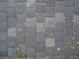 Decayed brick road texture