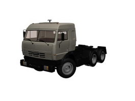 KAMAZ truck trailer 3d model preview