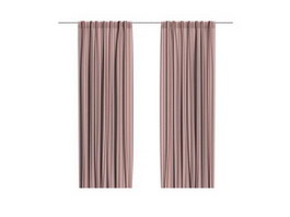 Hospital bed screen curtain 3d model preview