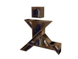 Modular Bookshelf 3d preview
