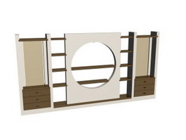 Home Wall Unit Display shelves 3d preview